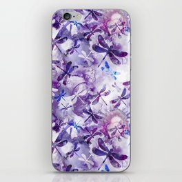 Dragonfly Lullaby in Pantone Ultraviolet Purple iPhone Skin