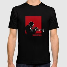 MILES / DAVIS [A Kind of Red][by felixx / 2016] Black 2X-LARGE Mens Fitted Tee