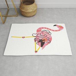 Robot Flamingo Rug