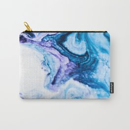 Blue marbled paper Carry-All Pouch