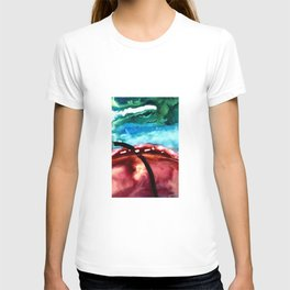 the earth is on fire T-shirt
