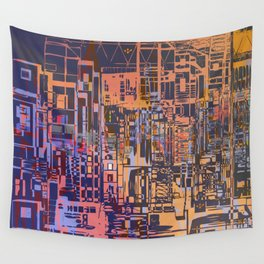 Where Are YOU -3 / Urban Density Wall Tapestry