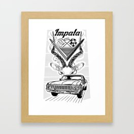 Chevy Impala Framed Art Print