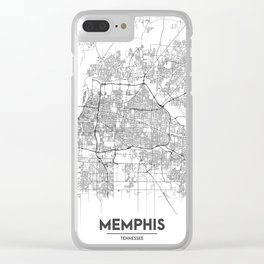 Minimal City Maps - Map Of Memphis, Tennessee, United States Clear iPhone Case