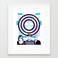 chvrches Framed Art Prints featuring Chvrches by Andrea Solenghi
