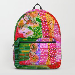 Flowers and Bricks Backpack