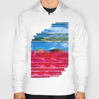 oslo Hoodies featuring Beautifully Glitched Oslo, Norway by GlitchedGirl
