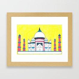 Taj Mahal by Sunil Framed Art Print