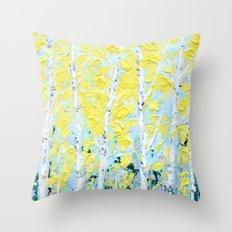 New England Paper Birch Throw Pillow