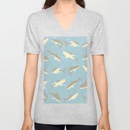 Many, Many Sharks Unisex V-Neck