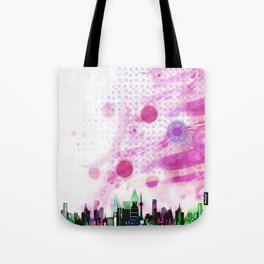 Bright Architecture and Snowflakes #3 Tote Bag