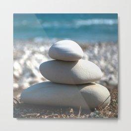 Balance Rocks Zen Metal Print