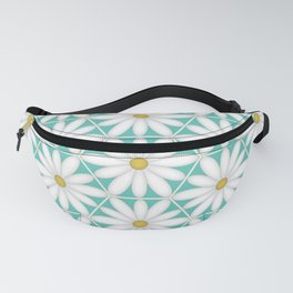 Daisy Hex - Turquoise Fanny Pack