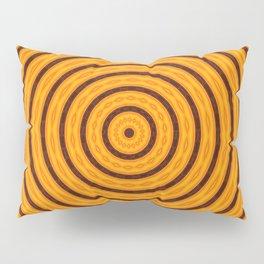 Circles within - Orange Pillow Sham