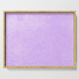 Pastel Ultra Violet Lilac Purple Grunge Ombre Pastel Texture Vintage Style Serving Tray