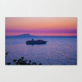 Cruise Ship at dusk Canvas Print