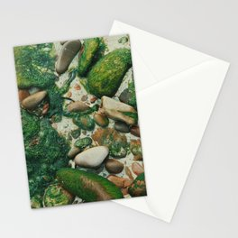 Moss-Covered Rocks in Isle of Skye, Scotland Stationery Cards