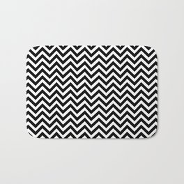 black chevron Bath Mat