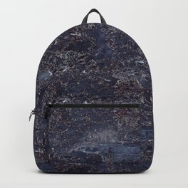 Blue marble pattern Backpack