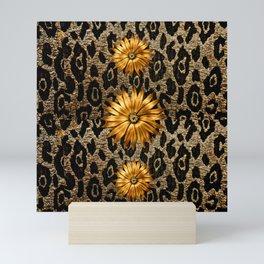 Animal Print Cheetah Triple Gold Mini Art Print