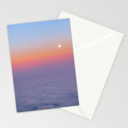 Sunset above the clouds Stationery Cards