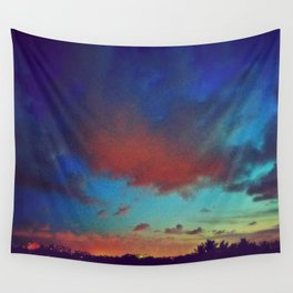Rainbow Sunset Wall Tapestry
