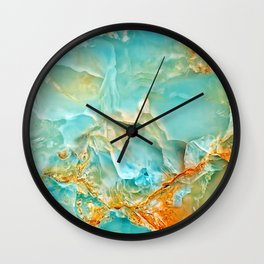 Onyx - blue and orange Wall Clock