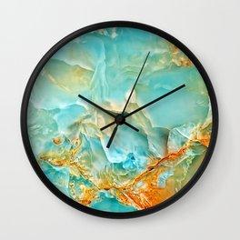 Onyx - blue and orange Wall Clock