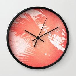 Palms, Light Leak, Color Explosion Wall Clock
