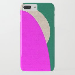 Abstract Composition in Green and Fuchsia iPhone Case