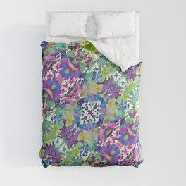 Colorful Modern Floral Print Comforters