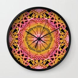 Octagonal Flower Mandala Wall Clock