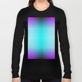 Purple Blue Black Ombre Hexagons Bi-lobe Contact binary Long Sleeve T-shirt