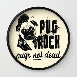 Pug Rock Wall Clock
