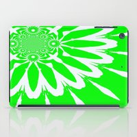 lime green iPad Cases featuring Lime Green Modern Flower by 2sweet4words Designs