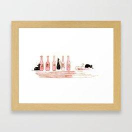 Alcohol Addiction Framed Art Print
