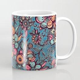 Sweet Spring Floral - melon pink, butterscotch & teal Coffee Mug