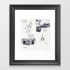 These Things Do Get Around Framed Art Print