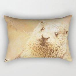 Vintage Animals - Otter Rectangular Pillow