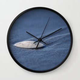 Leaving Tracks washed up sand dollar Wall Clock