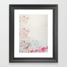 mam watercolor acuarela  Framed Art Print