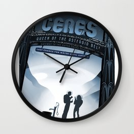 NASA Visions of the Future - Ceres, Queen of the Asteroid Belt Wall Clock