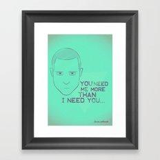 Breaking Bad - Faces - Jesse Pinkman Framed Art Print