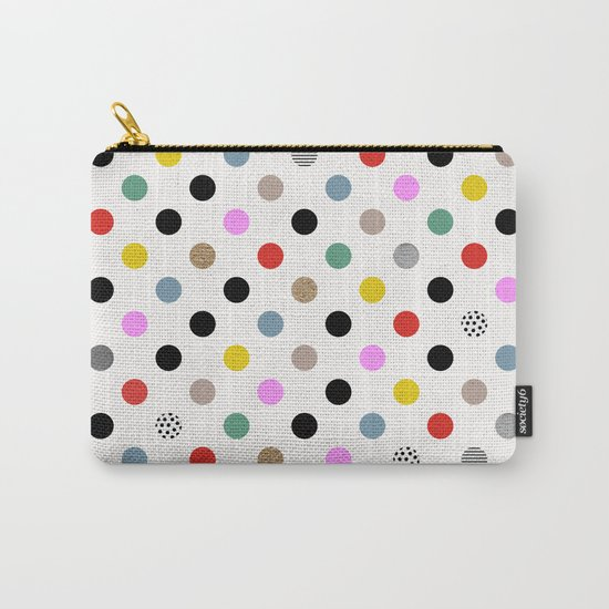 Coloured Dot Carry-All Pouch