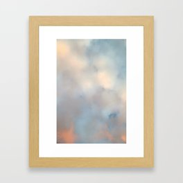 Ireland's sky - Pastel Cloudscape Framed Art Print