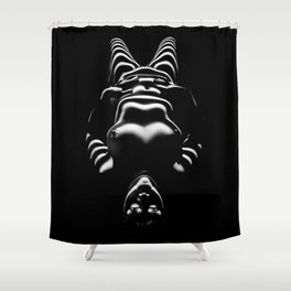 8650-SLG Sensual Female Nude Woman Wrapped with Bands of Light and Shadow Shower Curtain