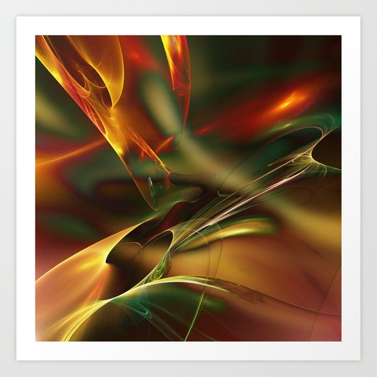 Spatially and Temporally Art Print