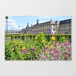 Tuileries Garden at the Louvre Canvas Print