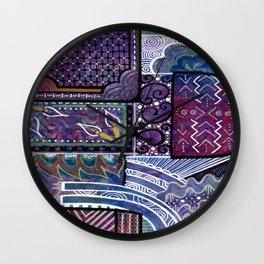 Purple Pandemonium Wall Clock