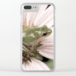 Treefrog on flower Clear iPhone Case